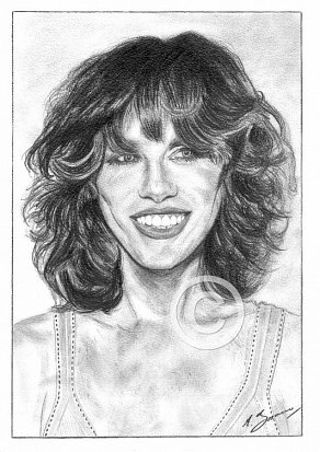 Carly Simon Pencil Portrait