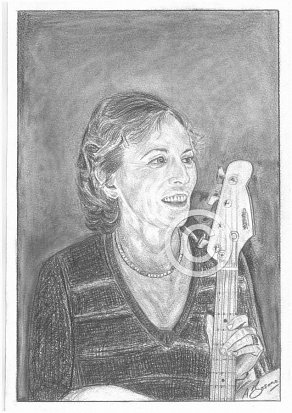 Carol Kaye Pencil Portrait