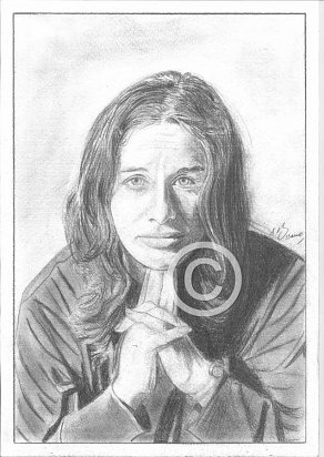 Carole King Pencil Portrait