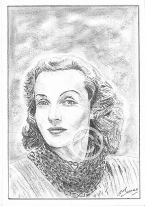 Carole Lombard Pencil Portrait