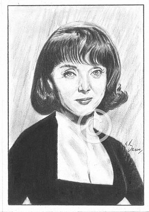 Carolyn Jones Pencil Portrait