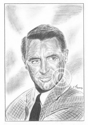 Cary Grant Pencil Portrait
