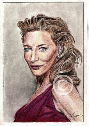 Cate Blanchett Pencil Portrait