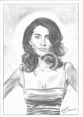 Caterina Murino Pencil Portrait