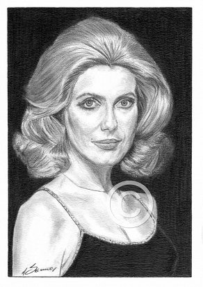 Catherine Deneuve Pencil Portrait