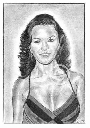 Catherine Zeta-Jones Pencil Portrait