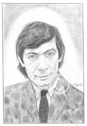 Charlie Watts Pencil Portrait