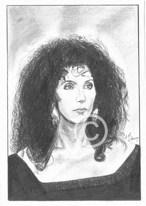 Cher Pencil Portrait