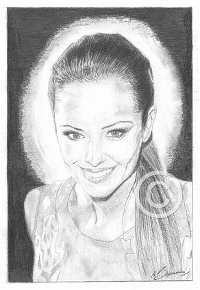 Cheryl Cole Pencil Portrait