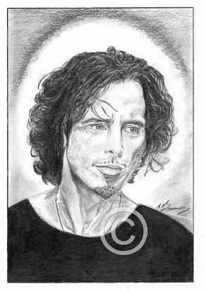 Chris Cornell Pencil Portrait