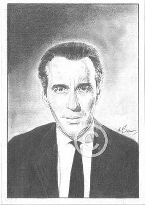 Christopher Lee Pencil Portrait