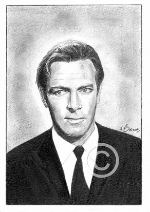 Christopher Plummer Pencil Portrait
