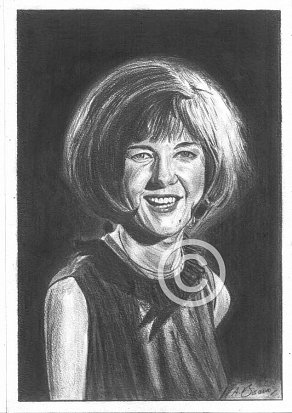 Cilla Black Pencil Portrait
