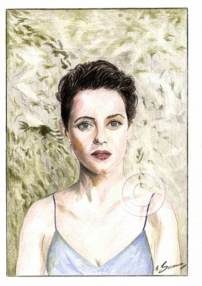 Claire Foy Pencil Portrait