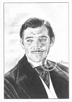 Clark Gable Pencil Portrait