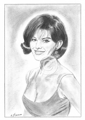 Claudia Cardinale Pencil Portrait