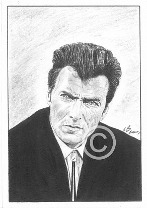 Clint Eastwood Pencil Portrait