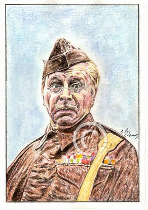 Clive Dunn Pencil Portrait