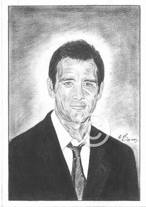 Clive Owen Pencil Portrait