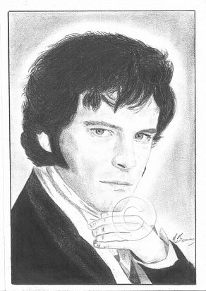 Colin Firth Pencil Portrait