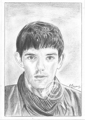Colin Morgan Pencil Portrait