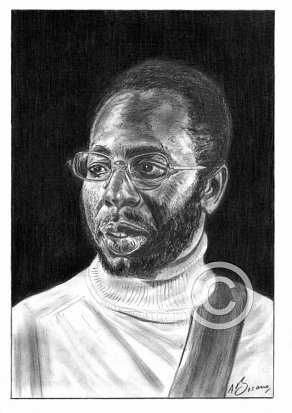 Curtis Mayfield Pencil Portrait