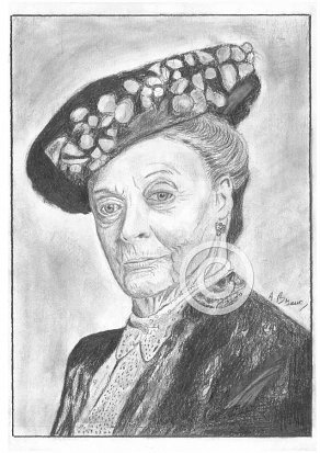 Dame Maggie Smith Pencil Portrait