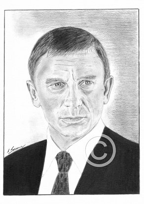 Daniel Craig Pencil Portrait