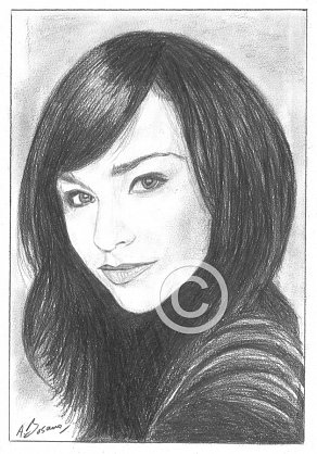 Danielle Harris Pencil Portrait