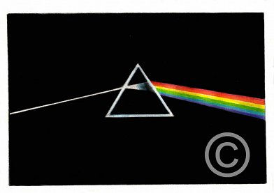 The Dark Side of the Moon Pencil Portrait