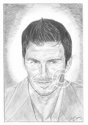 David Beckham Pencil Portrait