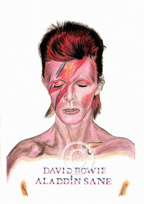 David Bowie - Aladdin Sane Pencil Portrait