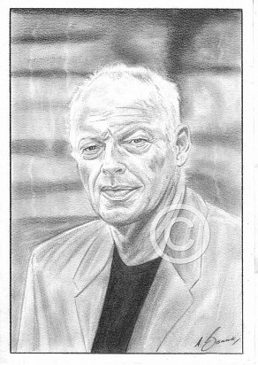David Gilmour Pencil Portrait