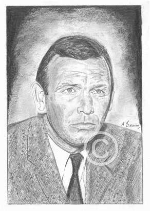 David Janssen Pencil Portrait