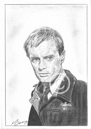 David McCallum Pencil Portrait