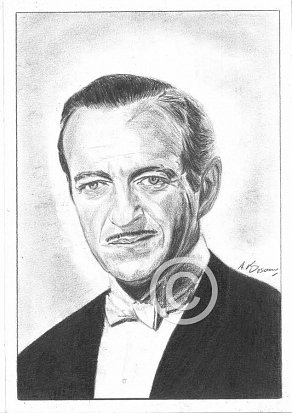 David Niven Pencil Portrait