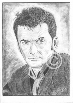 David Tennant Pencil Portrait