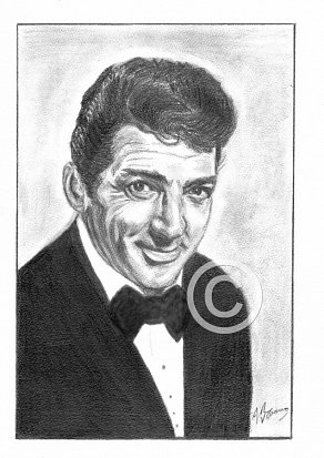 Dean Martin Pencil Portrait