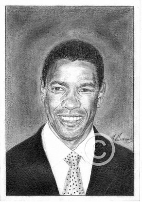 Denzel Washington Pencil Portrait