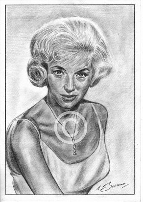 Diana Dors Pencil Portrait