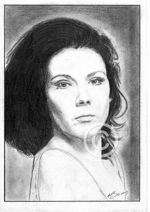 Dame Diana Rigg Pencil Portrait