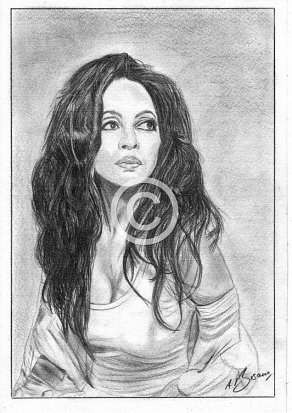 Diana Ross Pencil Portrait