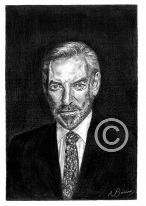 Donald Sutherland Pencil Portrait
