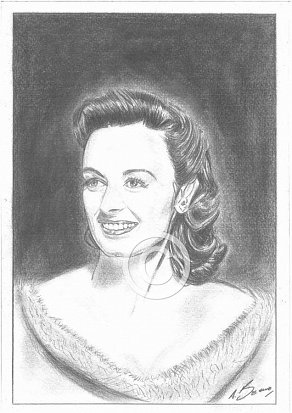 Donna Reed Pencil Portrait
