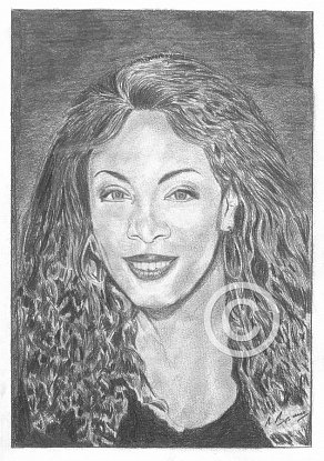 Donna Summer Pencil Portrait