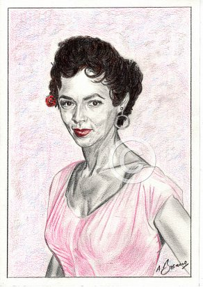 Dorothy Dandridge Pencil Portrait