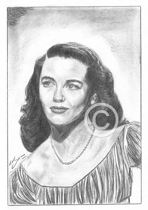 Dorothy Malone Pencil Portrait