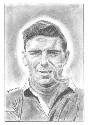 Duncan Edwards Pencil Portrait