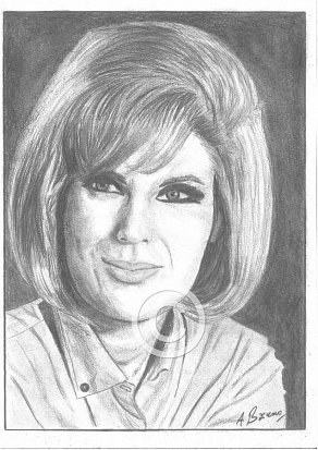 Dusty Springfield Pencil Portrait