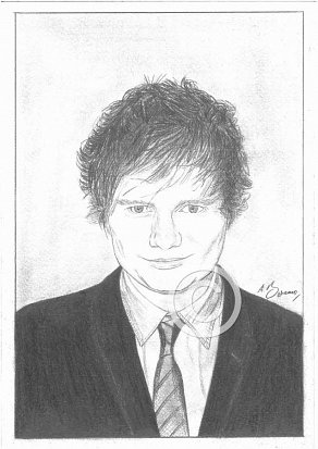 Ed Sheeran Pencil Portrait